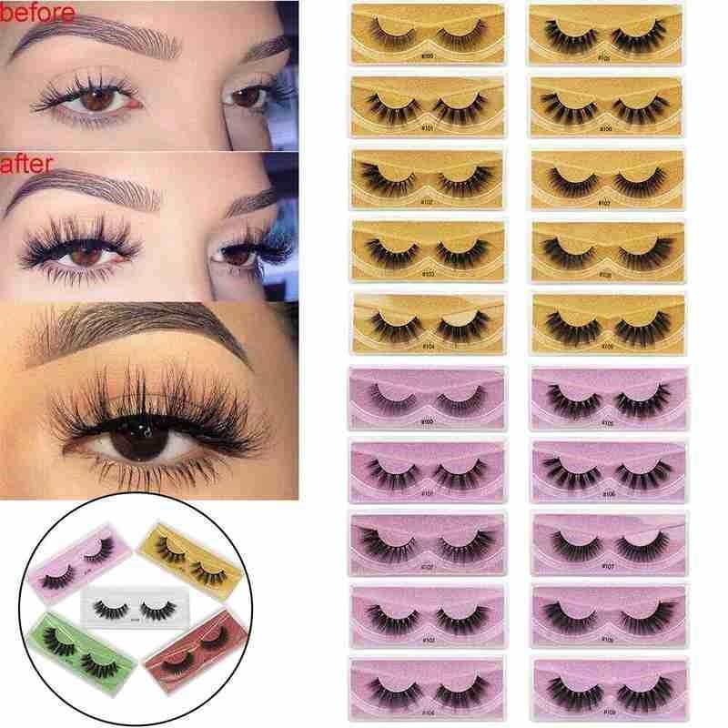 1pair Nature Mink Eyelashes With Glitter Cards 100% Handmade False Eyelash 3D Mink Lashes Natural Makeup Wholesale Hot Sale