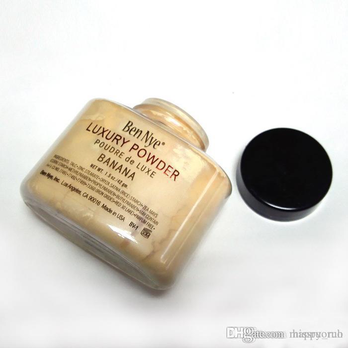 Sıcak Ben Nye Lüks Powder 42g Yeni Doğal Yüz Pudra Su geçirmez Besleyici Muz aydınlatın Uzun ömürlü