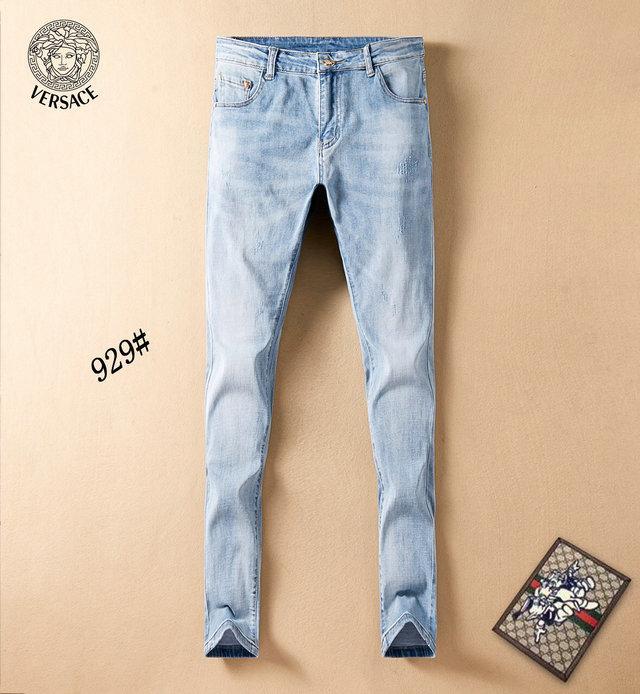 giysi tasarımcısı pantolon slp mavi siyah tahrip erkek Temsil ince kot düz motorcu sıska kot Men Jeans ~~ H107 yırtık