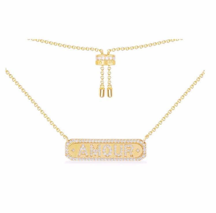 Mode Brief Halskette für Freundin