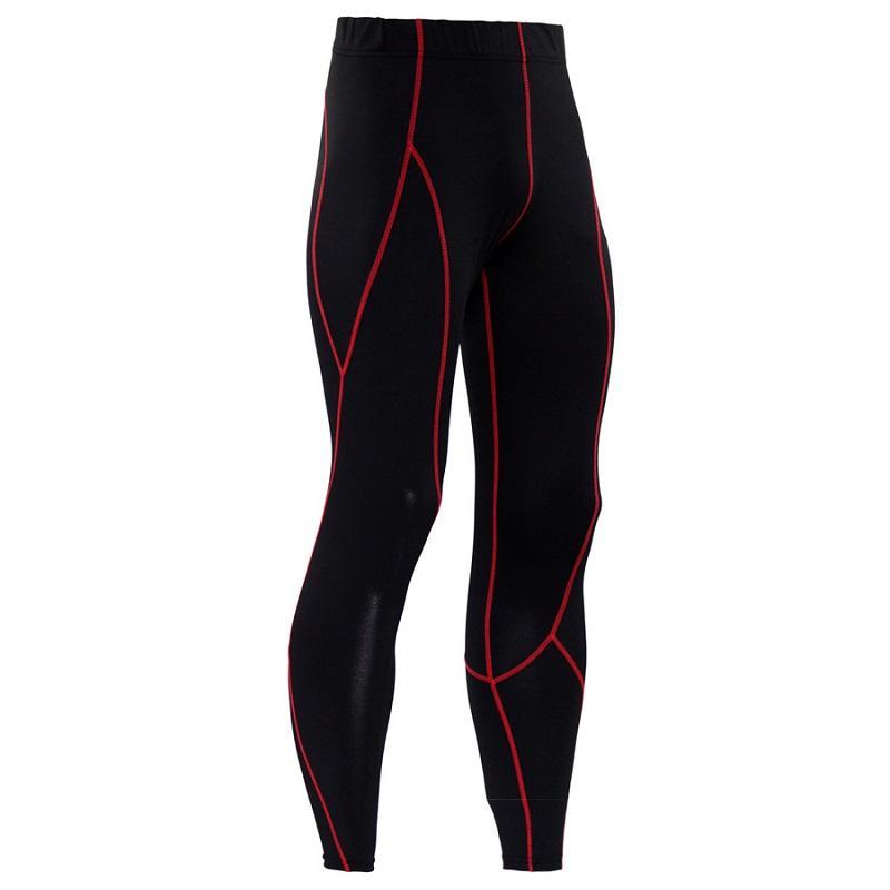 Formación apretado Pure Color Line Hombres de PRO Fitness Deportivo Correr de secado rápido transpirable sudor pantalones pantalones de jogging gimnasio