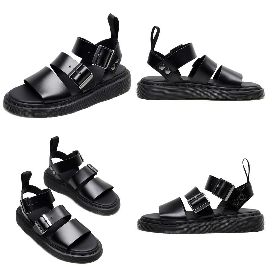 2020 Summer New Westerm style peu profond orteils pointés Chaussures plates Bouche Motif Pastèque Mode Sandales Femme # 617