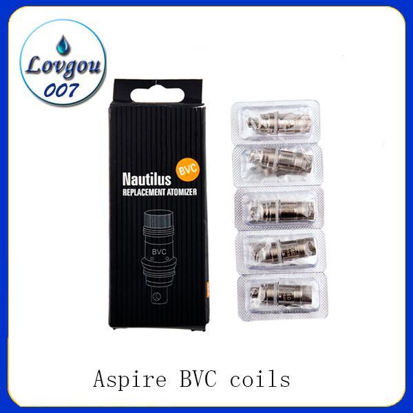 Aspire Nautilus 1.6ohm / 1.8ohml atomizzatore BVC Ricambio Head bobine per Aspire Nautilus e Nautilus mini regolabile del flusso d'aria del serbatoio Clearomizer