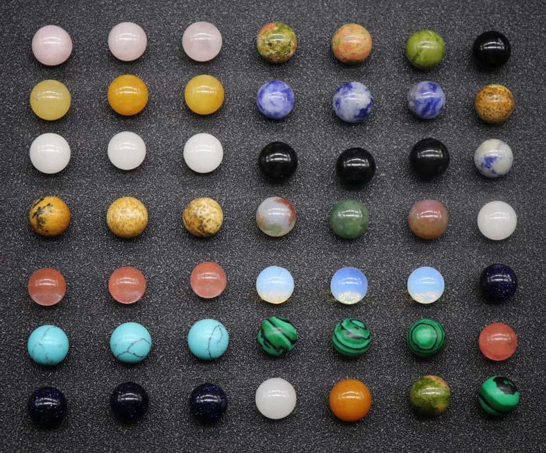 20 قطع فضفاض الأحجار الكريمة الخرز 8 ملليمتر 10 ملليمتر 12 ملليمتر جولة شبه الثمينة فضفاض حجر طبيعي الخرز كوارتز مختلط الألوان لصنع المجوهرات