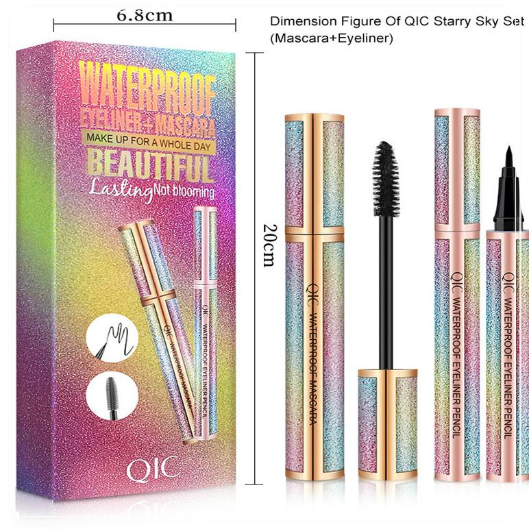 4D Fibre Lash Mascara liquide Crayon Eyeliner Noir Kit étoilé QIC ciel Mascara Waterproof Volume cils épais Long Lasting Eye liner DHL