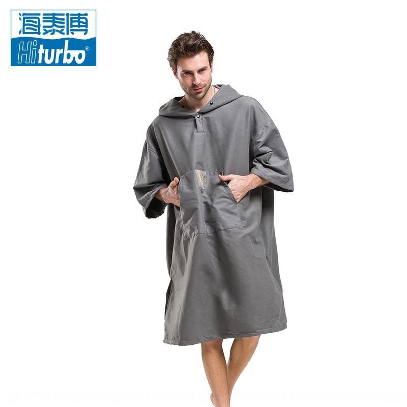 Hai Taibo (Hiturbo) ändern warme Mantel Kleidung Bademantel Strand Tauchen Mantel winddicht tragbare schnell trocknende Kleidung ändern aufwärmen