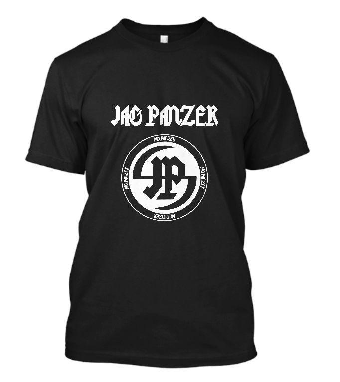 Yeni JAG PANZER Logo concer Bant Siyah Tişört Boyut Moda Erkekler Baskılı T Gömlek