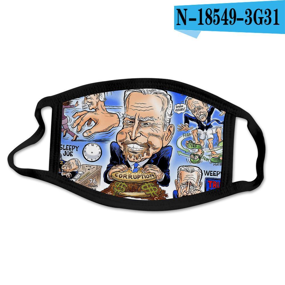 Máscaras 14style Joe Biden 2020 Máscara americanos enfrentam Eleição 3D imprimir Windproof Cotton Mouth máscara máscaras filhos adultos Biden partido GGA3575-4