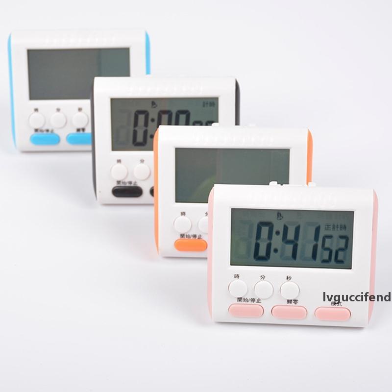 4 Farben LED Großbild Elektronische Timer-Küche Ei Backen Timer Digital-Count Down Up Timer Erinnerung mit Magnet-Ständer Clip BH2163 CY