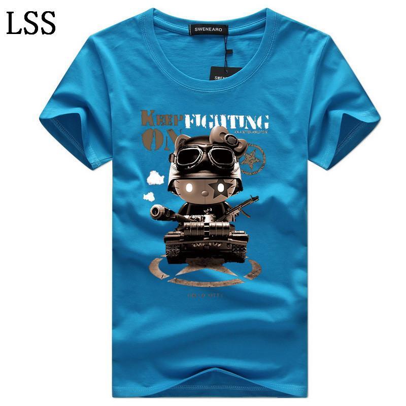 Men's T-Shirts Casual O-Neck Short Sleeves Print Funny T Shirts Men Summer Fashion Brand Tee Shirt Homme Tops Size 5XL C-8