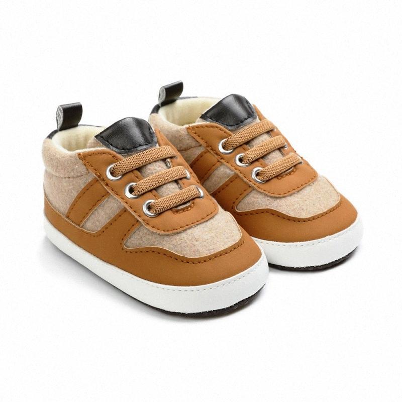 0-18M новорожденной Повседневная обувь первых ходунки ShoesToddler мягкая подошва против скольжения Спортивных кроссовок Новорожденных мальчики мягкой подошвы ботинки tyiW #
