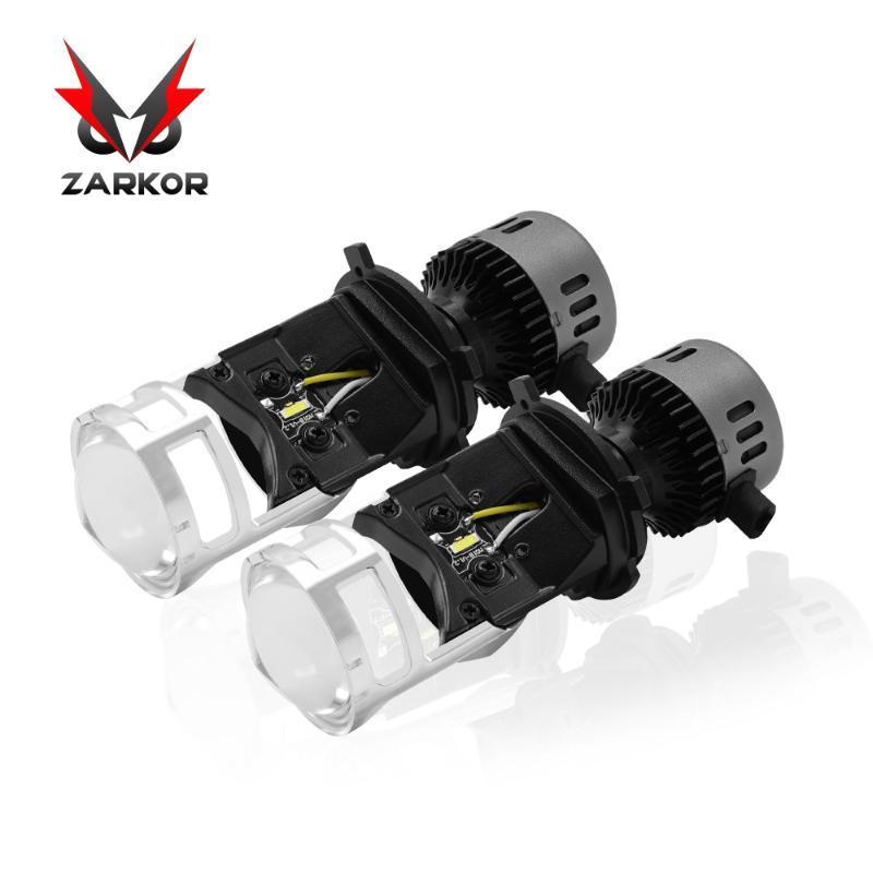 Zarkor Super LED H4 Car Light 100W Mini Projector Lens Motorcycle Lamp 6500K Headlight Hi/Lo Beam CSP Auto Bulb 12V 24V