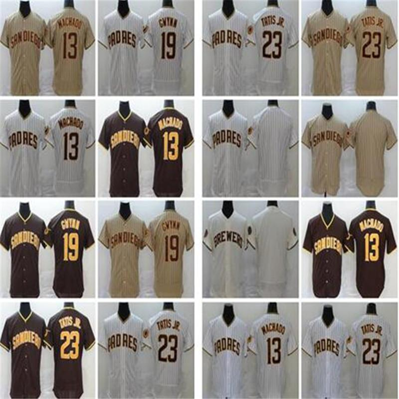 2020 NEW Men Women kids Fernando Tatis Jr 23 Manny Machado 13 Tony Gwynn 19 Eric Hosmer Brown jersey Baseball Jerseys