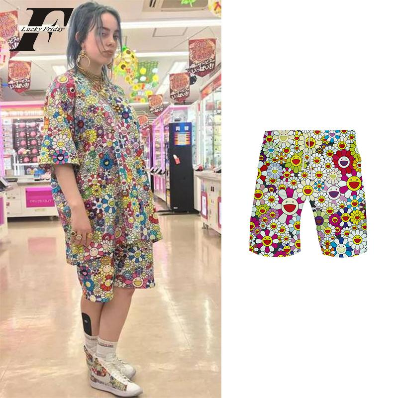 2020 Billie Eilish Flower Shrots Women And Men Kpop Color Summer Shorts Clothes Harajuku Plus Size Shorts Streetwear 2019 T200520 From Xue04 9 67 Dhgate Com