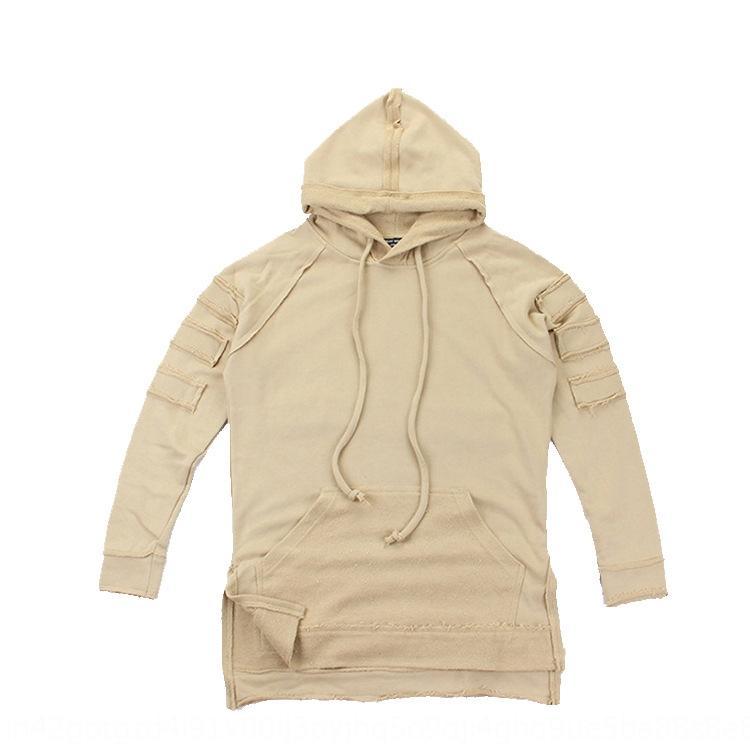 manches hoodie manteau à la mode des hommes de la rue d'automne long manteau à manches longues hoodie hip-hop pour les hommes et les femmes
