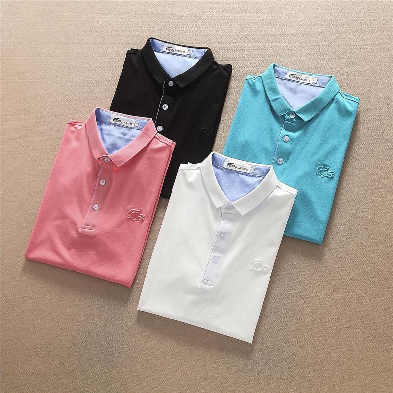 Iduzi haute qualité Crocodile Polo Hommes Shorts coton solide Polo été Casual Polo Homme T-shirts Hommes Polos Chemises Poloshirt