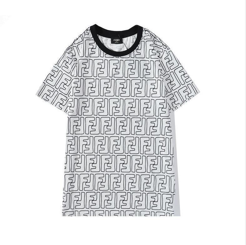 Il girocollo T-shirt in cotone nuovo del 2020 è traspirante, uomini e donne con manica corta sciolto e casuale il trasporto libero