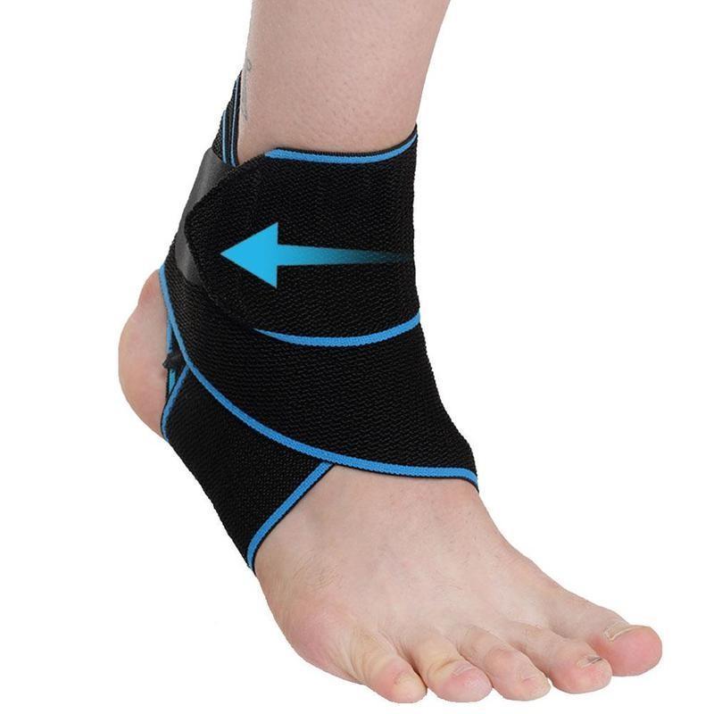 1PC tobillo apoyo de la ayuda de compresión ajustable TOBILLERAS de Protección Deportes Un tamaño correa elástica del pie del vendaje