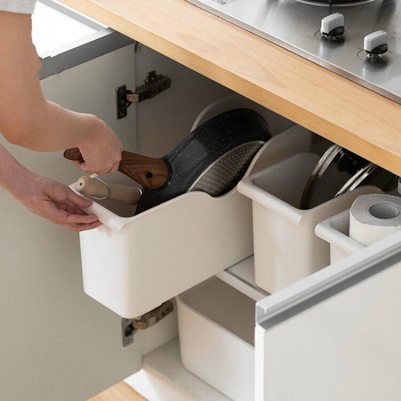 المطبخ الرائع التخزين الخاصة صندوق البكرة وعاء غطاء من البلاستيك الجرف المطبخ الأبيض صندوق تخزين التوابل لوحة تخزين الرف الجرف