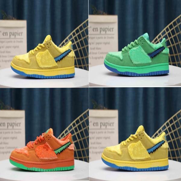 2020 neue frei SB Dunk Low Grateful Dead x Bär Schuhe grün, orange, gelb Mode Turnschuhe CJ5378-700 Größe der laufenden 36-45