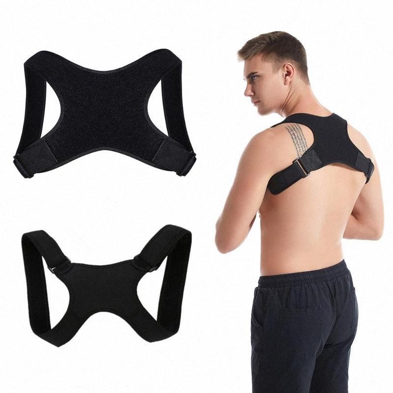 Adulti Bambini Spine correttore di posizione posteriore di sostegno cinghia della spalla del gancio invisibile Humpback Cintura Fasciatura Dolore XL MCXH #