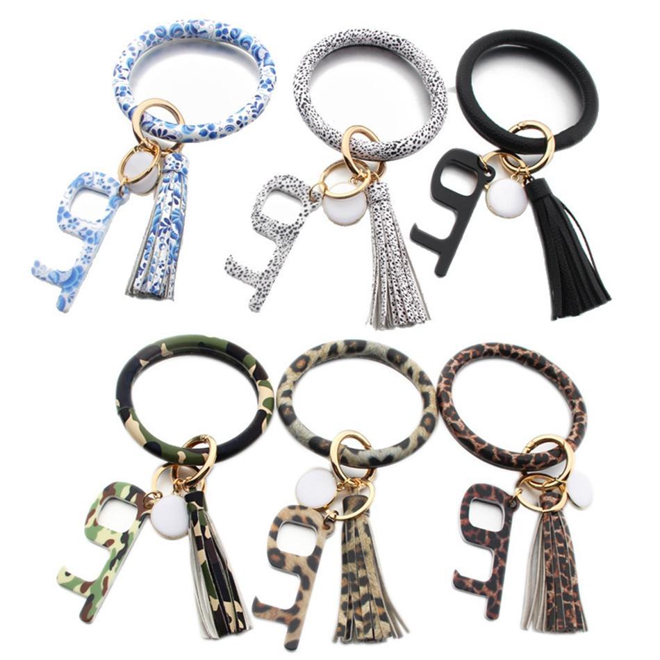 Браслет Бесконтактного Key Chain No Touch дверь лифт Hook открывалка Бесконтактного Браслет Акрилового Брелок Аксессуар партия благосклонность подарки LJJP228