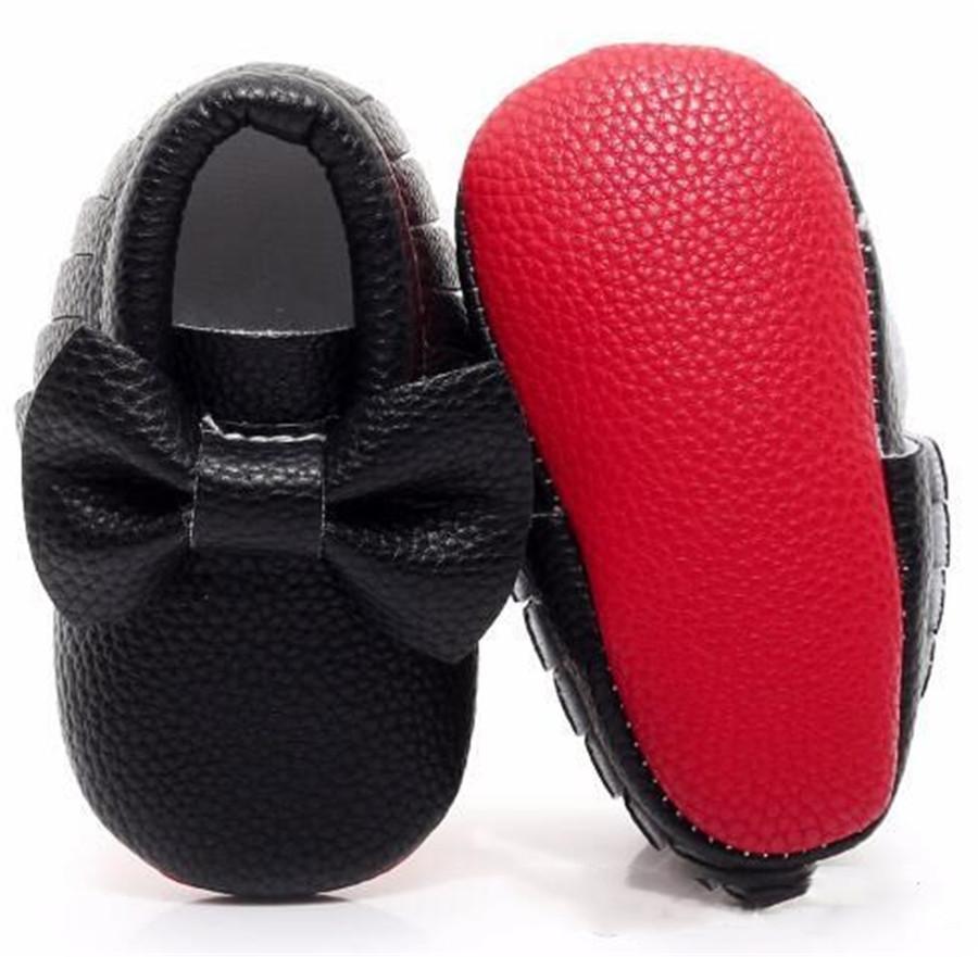 أحمر Hongteya الطفل سوليد حذاء بدون كعب PU الجلود الأولى حمالات أحذية كبيرة الفتيات القوس أحذية أطفال الرضع حديثي الولادة لطفل صغير 0-24M