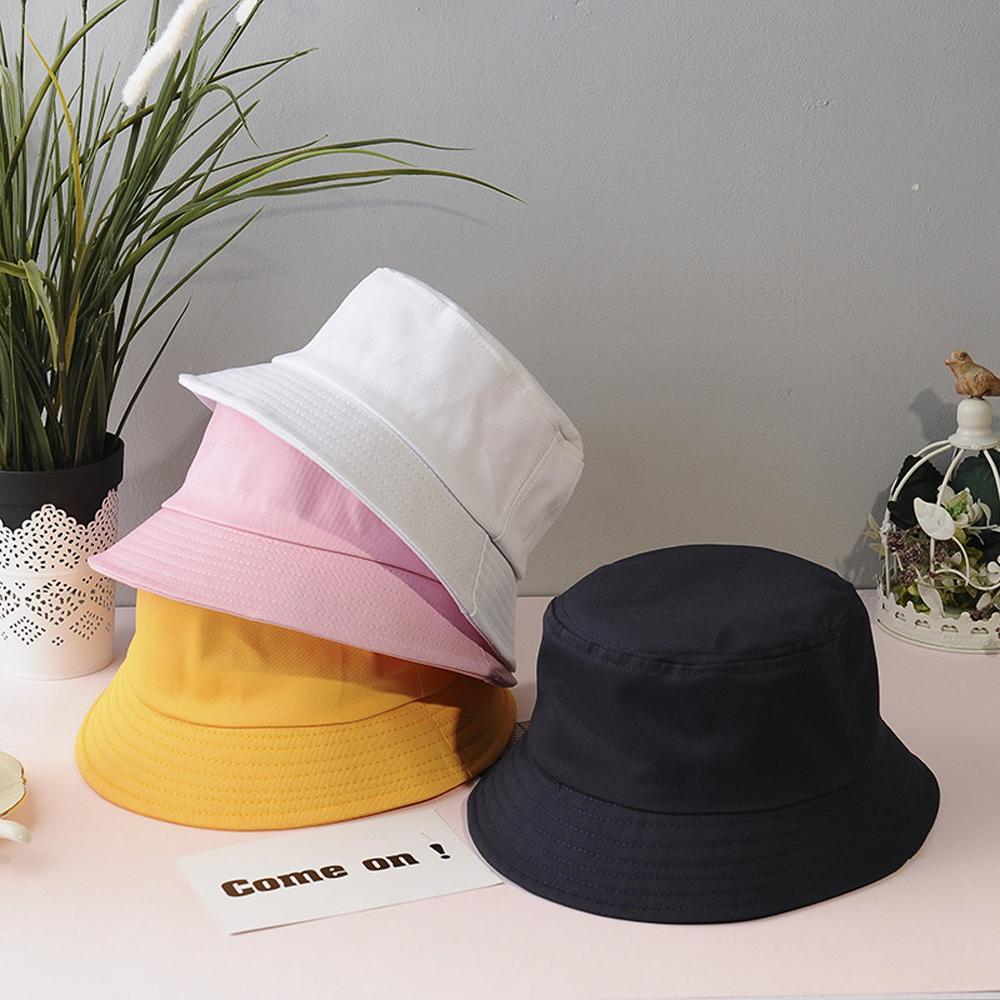 XaYbZc Unisex Verão dobrável Bucket Hat Mulheres Outdoor Sunscreen Cotton Caça Cap Homens Bacia Chapeau Sun Prevenir Chapéus