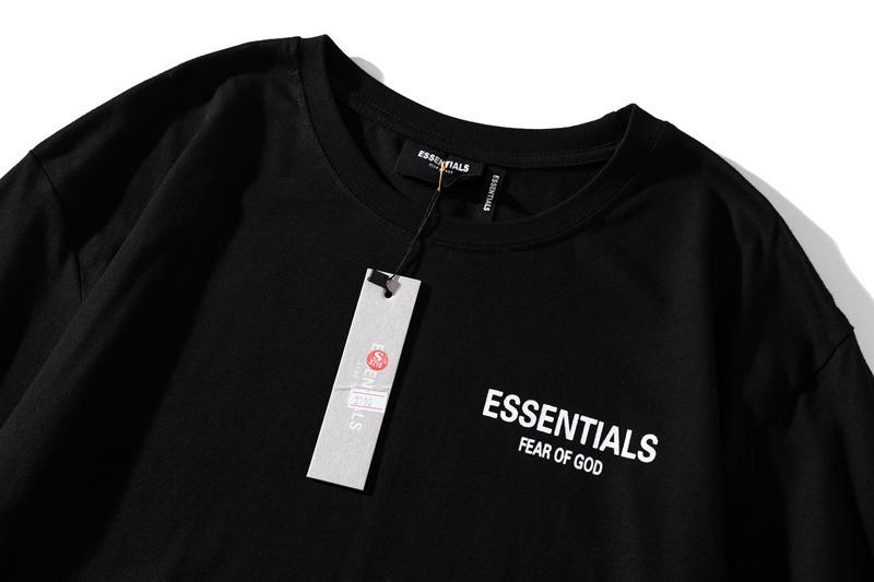 2021 Calidad FFOG Femore Female de gran tamaño DIOS ESENCIALES Boxy Women T-Shirt Off Tee Hombres Algodón Foto Camiseta Alta camiseta CBXOD