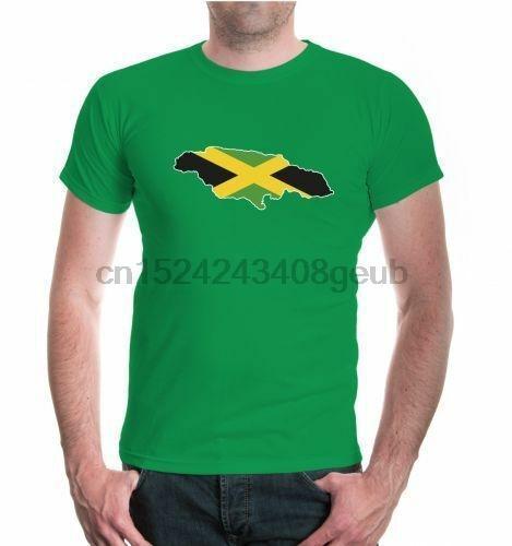 Unisex Kurzarm T-Shirt Jamaika-Form Karibik Insel Flagge flag Urlaub