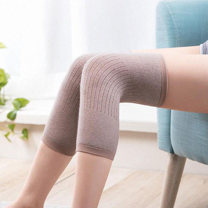 1 par de cachemira caliente de la rodillera de lana de rodilla apoyar a hombres y mujeres Ciclismo Alargar prevenir la artritis de la rodilla Pad Rwlj #