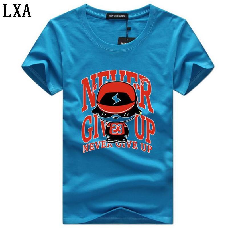 Бесплатная доставка Новая мода печати Tear T-Shirt Мужчины Хлопок Короткие рукава Повседневная Tshirt O-образным вырезом футболки Мужчины Топы Тис S-5XL C-3