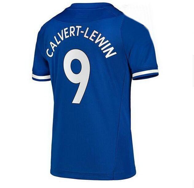 19 10 Sigurdsson 9 Calvert-Lewin 7 Richarlison 8 Delph 12 Digne Qualidade Tailandesa Personalizada Camisas de Futebol Camisas Mistura Ordem Aceito