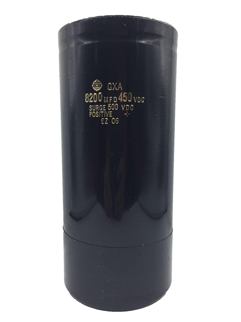 Alta calidad HITACHI Condensador electrolítico de aluminio, 8200MFD 450 Vdc, Tamaño 196 mm x 90 mm, tornillos de los terminales