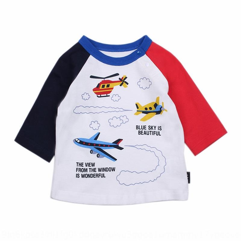 hsjtp японской одежды Детской футболка детской одежды хлопок футболка мальчик с семью рукавами экскаватора пожарной машины инженерного автомобилем в