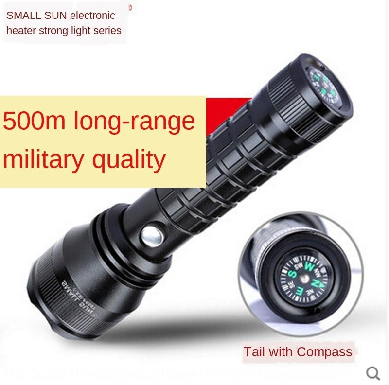 SnvZP Küçük Güneş açık pusula Projektör şarj edilebilir 26650 lityum pil ZY-F658T Küçük Fener flashlightflashlightSun feneri