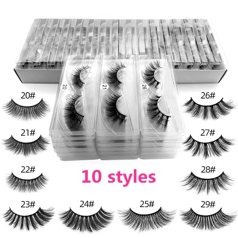 3D Vison Cils individuels Extensions 3D Cils Mink Lashes Logo Privé personnalisé cil Eye Packaging Boîte Faux Mink yeux Boîtes emballage Lash