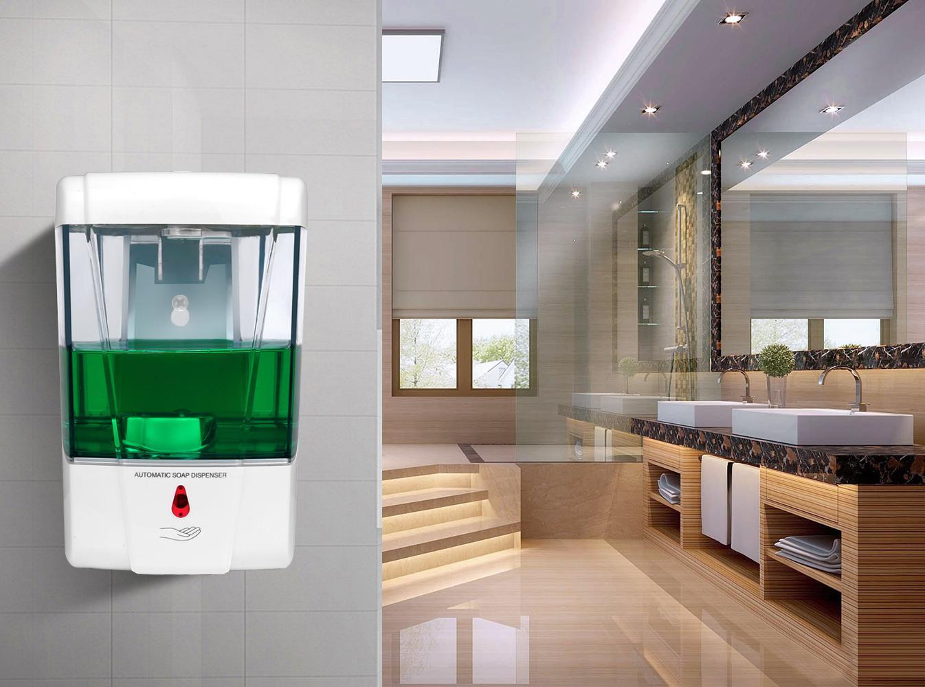 700ml fixado na parede Sensor dispensador de sabão líquido Touchless automática Soap Dispenser Sensor Dispenser Banho Acessórios DHB330