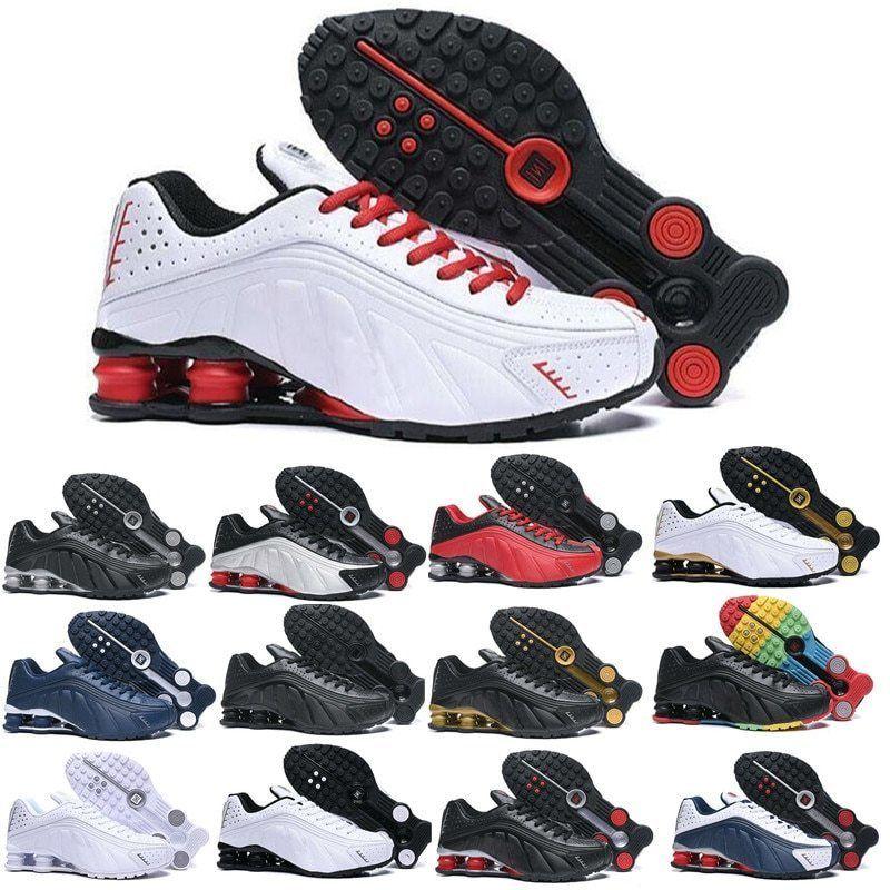 2020 New Goldregenbogen Shox Herren Schuhe Designer Chaussures R4 Laufschuhe Zapatillas Hombre Nz Mann-Sport-Trainer Tn TL Turnschuhe