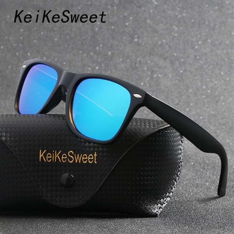 Keikesweet Polarisierte Linse mit Designer Sonnenbrille Männer Gläser Vintage Party Outdoor Rays Frauen Sun Uv400 Top Case Crnxi