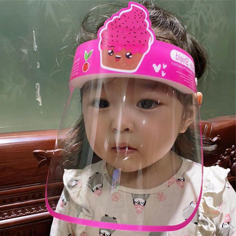 Fashion Design Visiera per bambini Maschere adulti faccia Trasparente antinebbia maschere antipolvere di protezione multifunzionale Full Face Covers 21 Stile