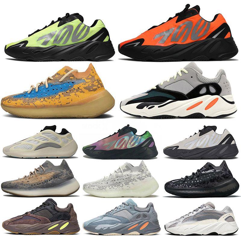 700 V2 700s 380 Kanye West Orange Wave Runner hombres de los zapatos corrientes Azael Alvah extranjero hueso azul malva avena inercia estática Tefra las zapatillas de deporte