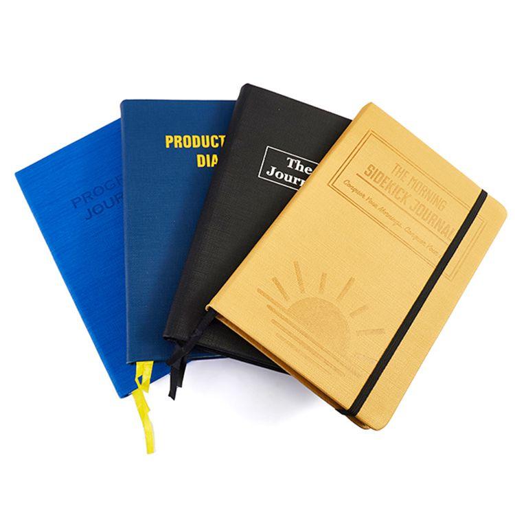 مخصص شعار الطباعة الأزياء ممارسة مخطط مذكرات A5 بو الجلود دفتر