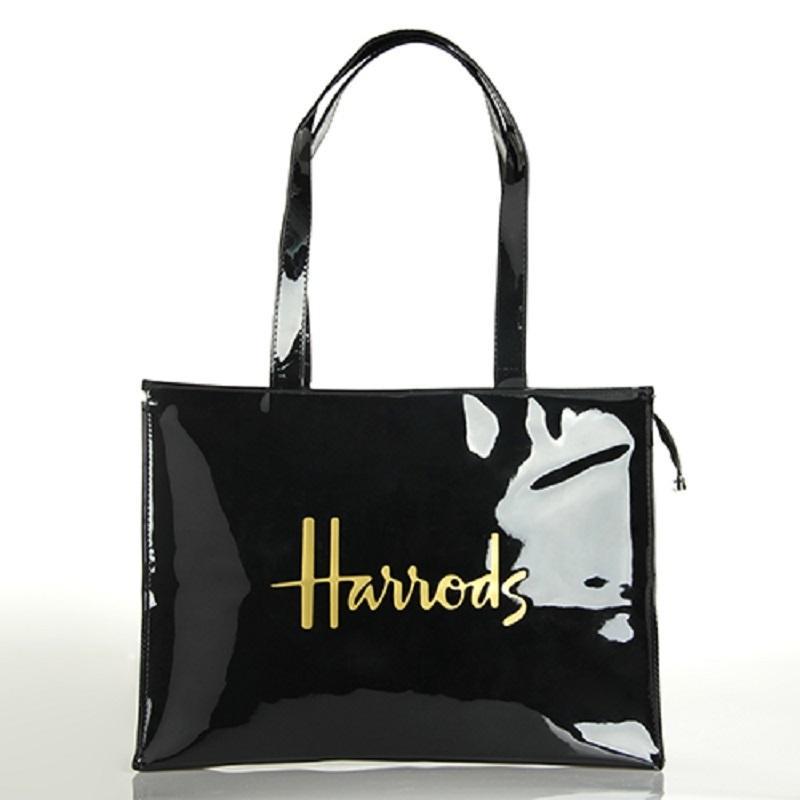 Designer- PVC Sac à provisions réutilisable écologique London Lady Bag Shopper grande capacité Sac étanche à bandoulière Sac à main