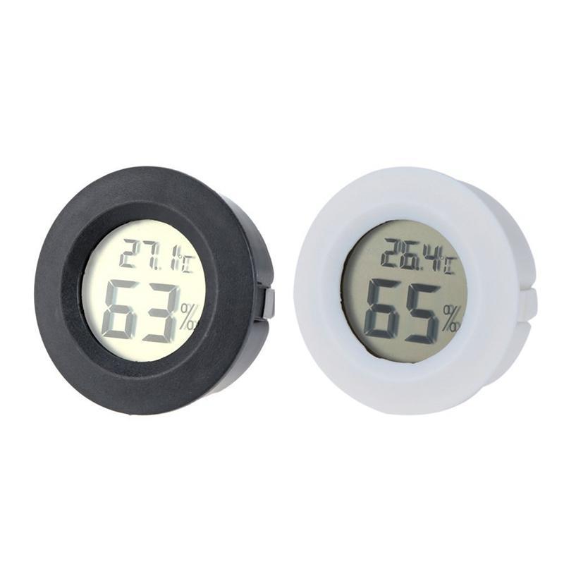 Mini LCD thermomètre numérique hygromètre température hygromètre détecteur Thermograph Fahrenheit / Celsius pour Cigares Accueil JK2008XB