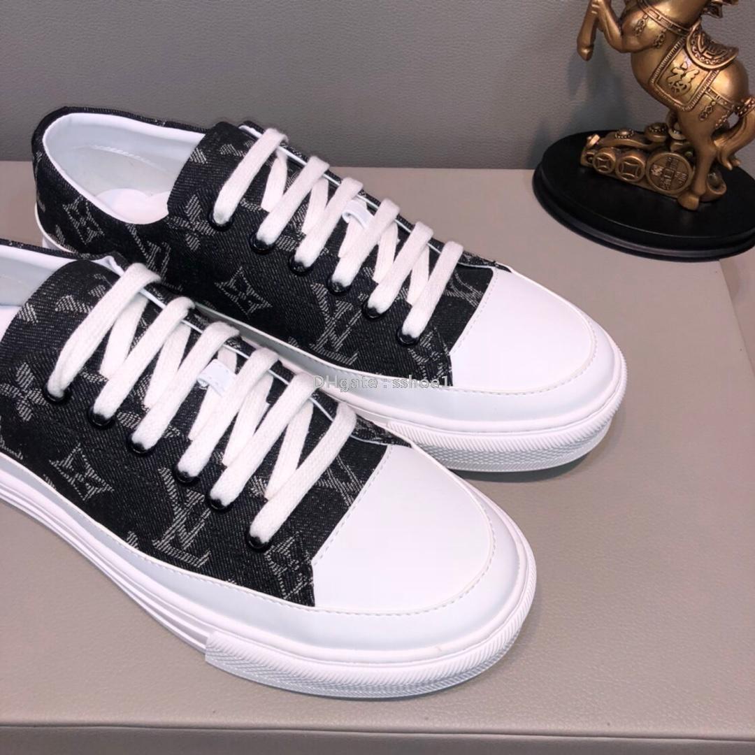 2019y verano nuevos zapatos patrón de hombre casual, zapatos salvajes, zapatos bajos de fondo plano cómodas, el embalaje original de la caja: 38-44
