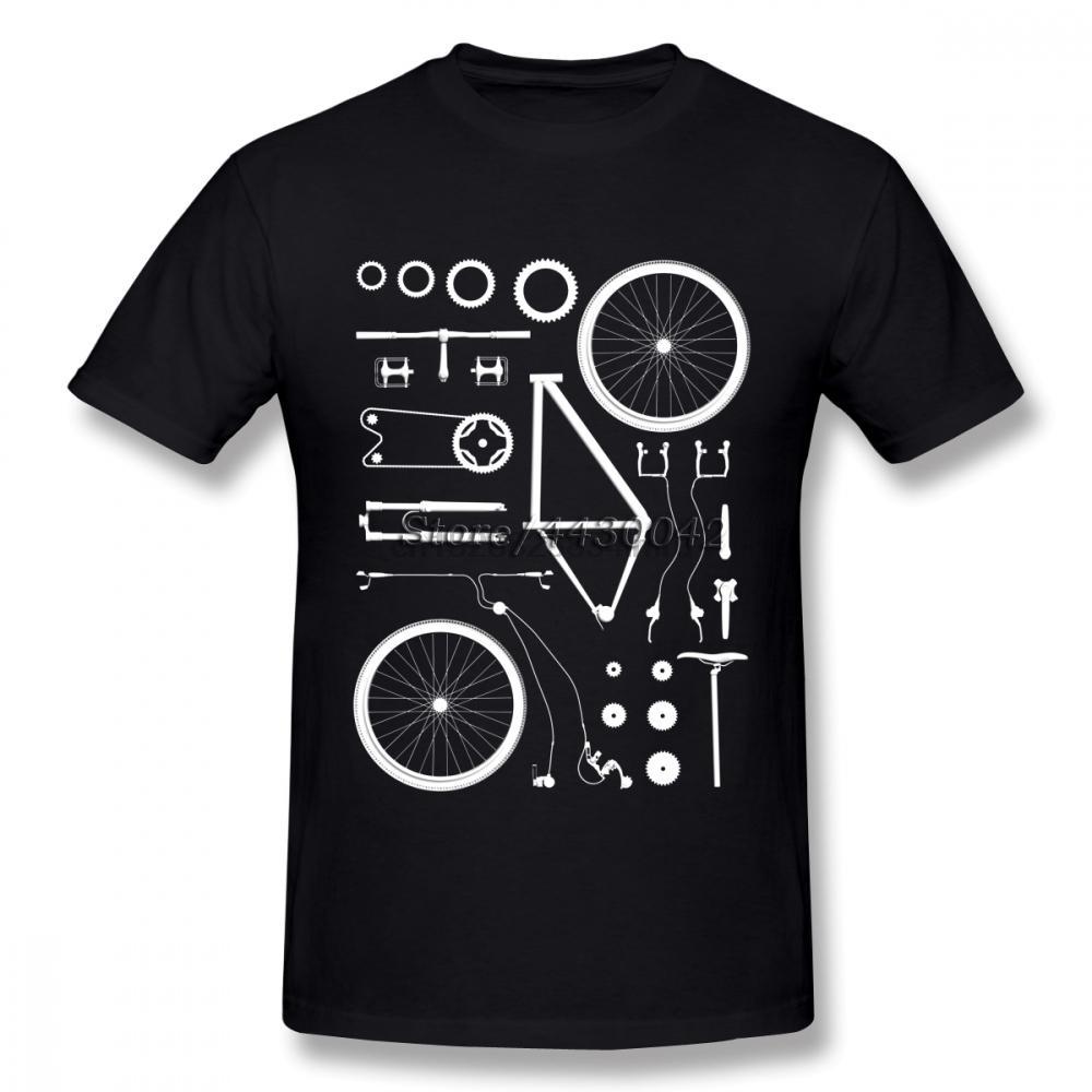 Motorista de la montaña del ciclo MTB camiseta para los hombres de manga corta de algodón más del tamaño Camiseta de encargo