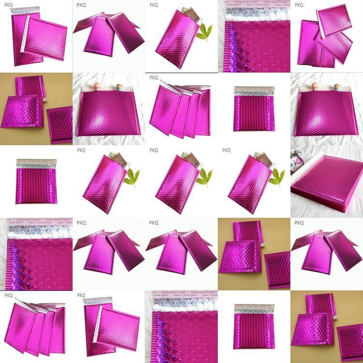 Bolha metálico Utentes metálico acolchoados Envelopes Borgonha Matt metálicas bolha Bags C5 grande bolha Bags acolchoados envelopes BxJao xhhair