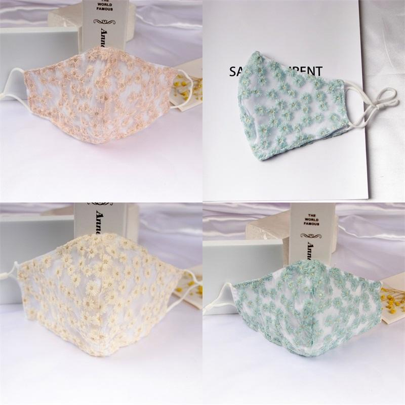 Daisies Flowers Mouth Masks Gauzes Cotton Mascarilla Fashion Reusable Protection Pm 2.5 Respirator Washable Foldable Men Women 5yca