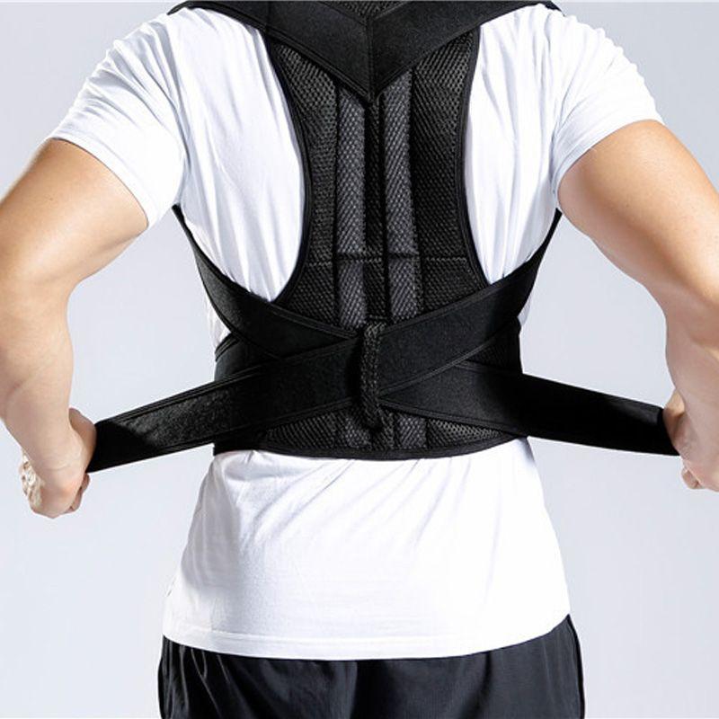Adjustable Shoulder Strap Back Posture Corrector Magnetic Therapy Lumbar Brace Support Belt Shoulder Posture Correction